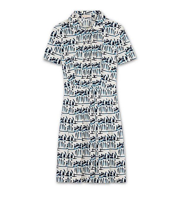 Tory Burch Stretch Poplin Shirtdress