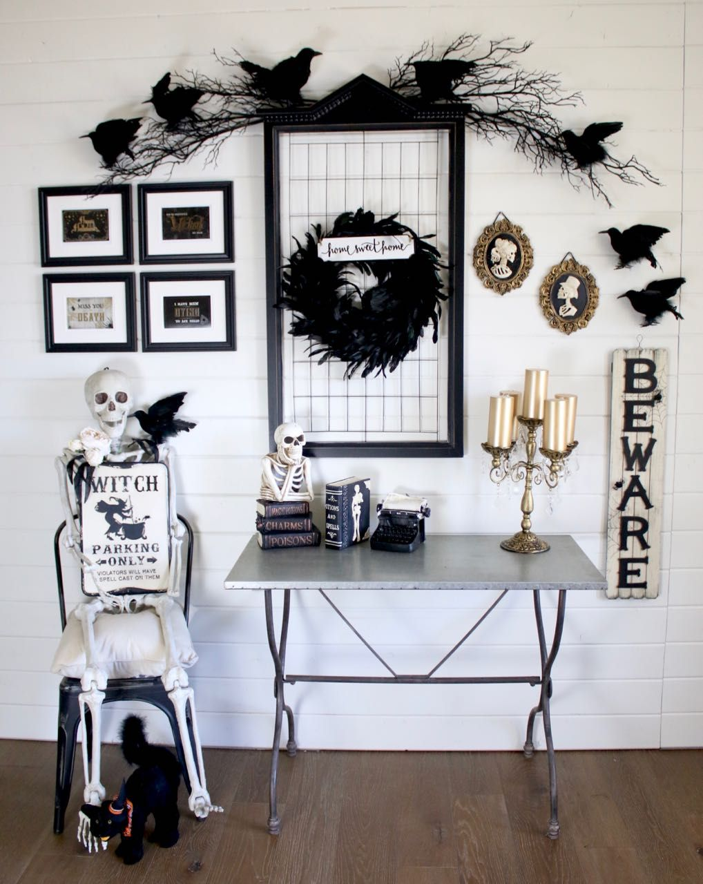 Diy Halloween Gallery Wall For Perfect Spooky Decorations Everything Is From Michaels Halloween Hal Halloween Wall Decor Spooky Decor Halloween Home Decor