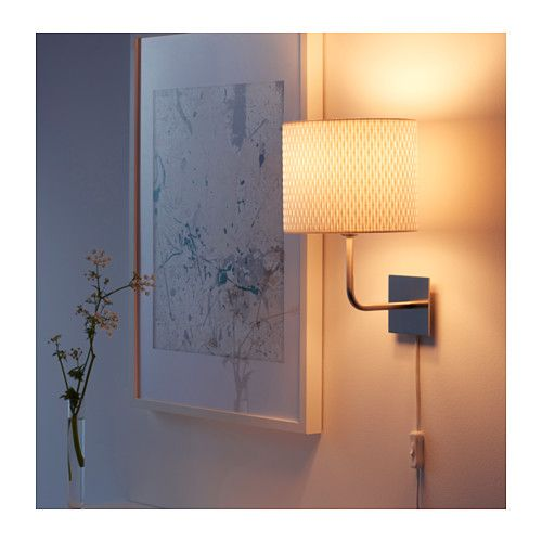 Alng wall lamp nickel plated white nickel platedwhite ikea alng wall lamp nickel platedwhite gives a soft mood light aloadofball Gallery