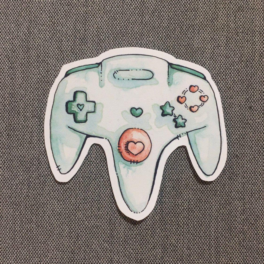 Pastel Watercolor Nintendo Stickers made by StudioPenPen -