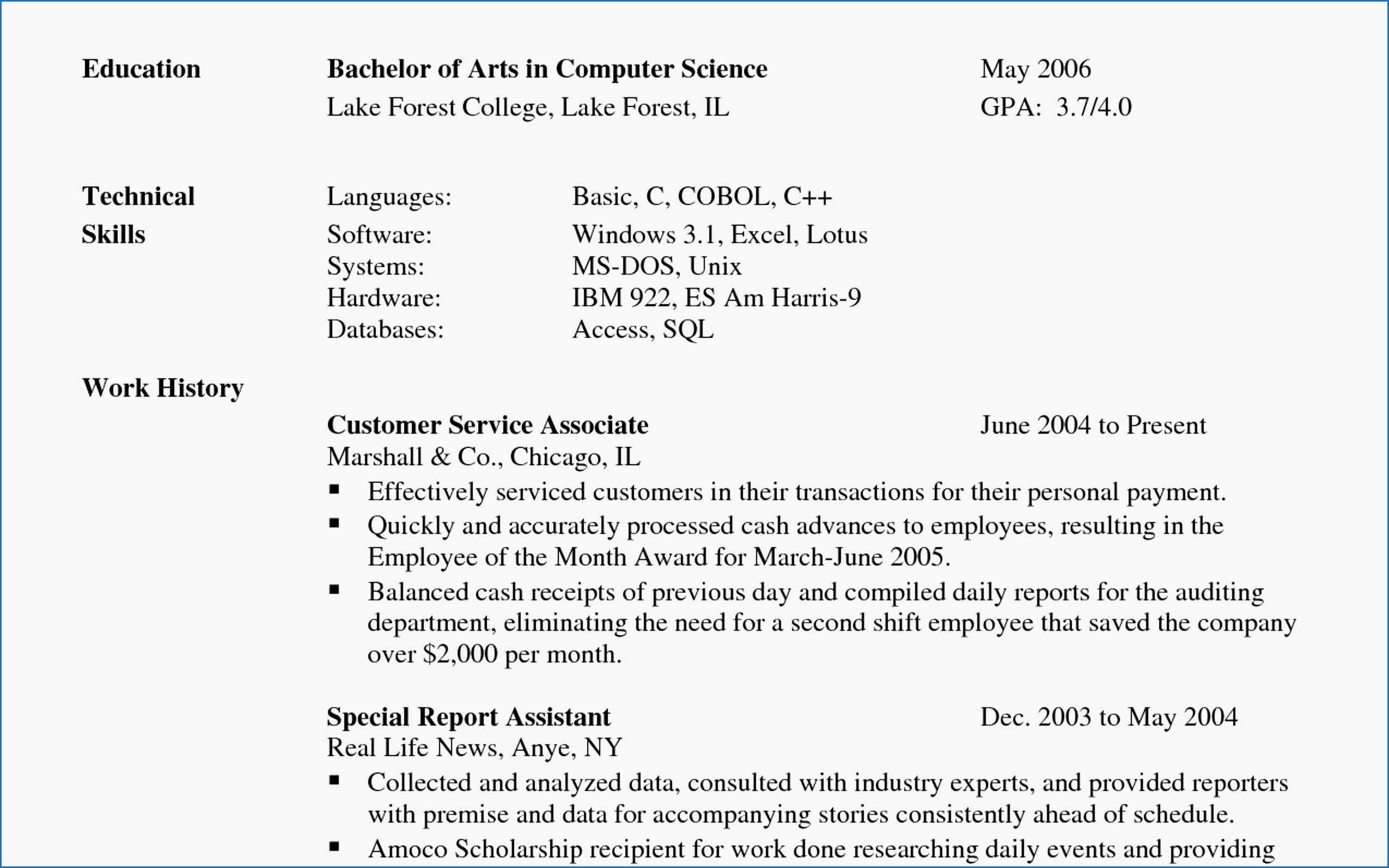 14 resume example for customer service associate resume