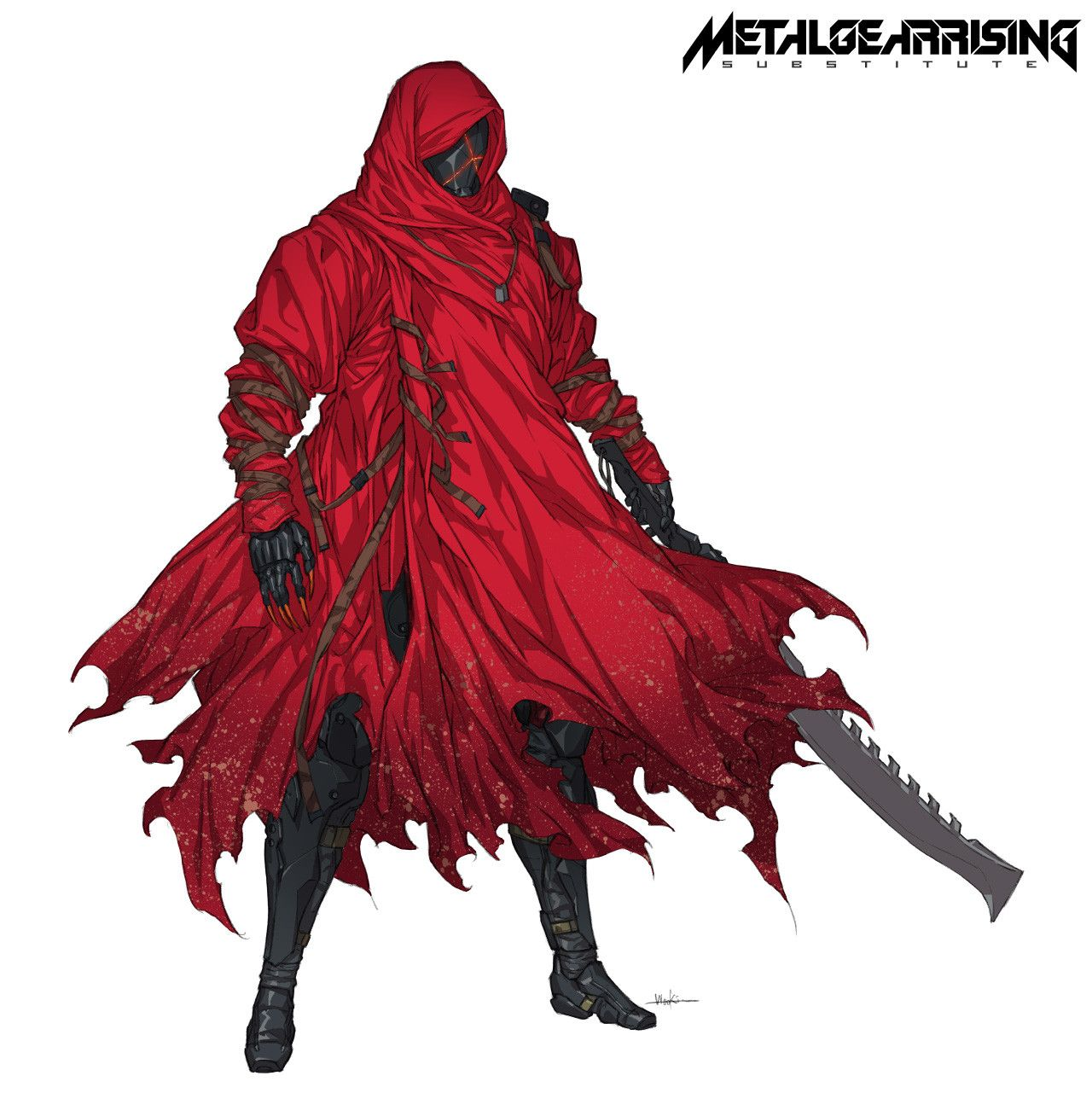 Artstation mgr substitute chico woo kim character for Metal concept
