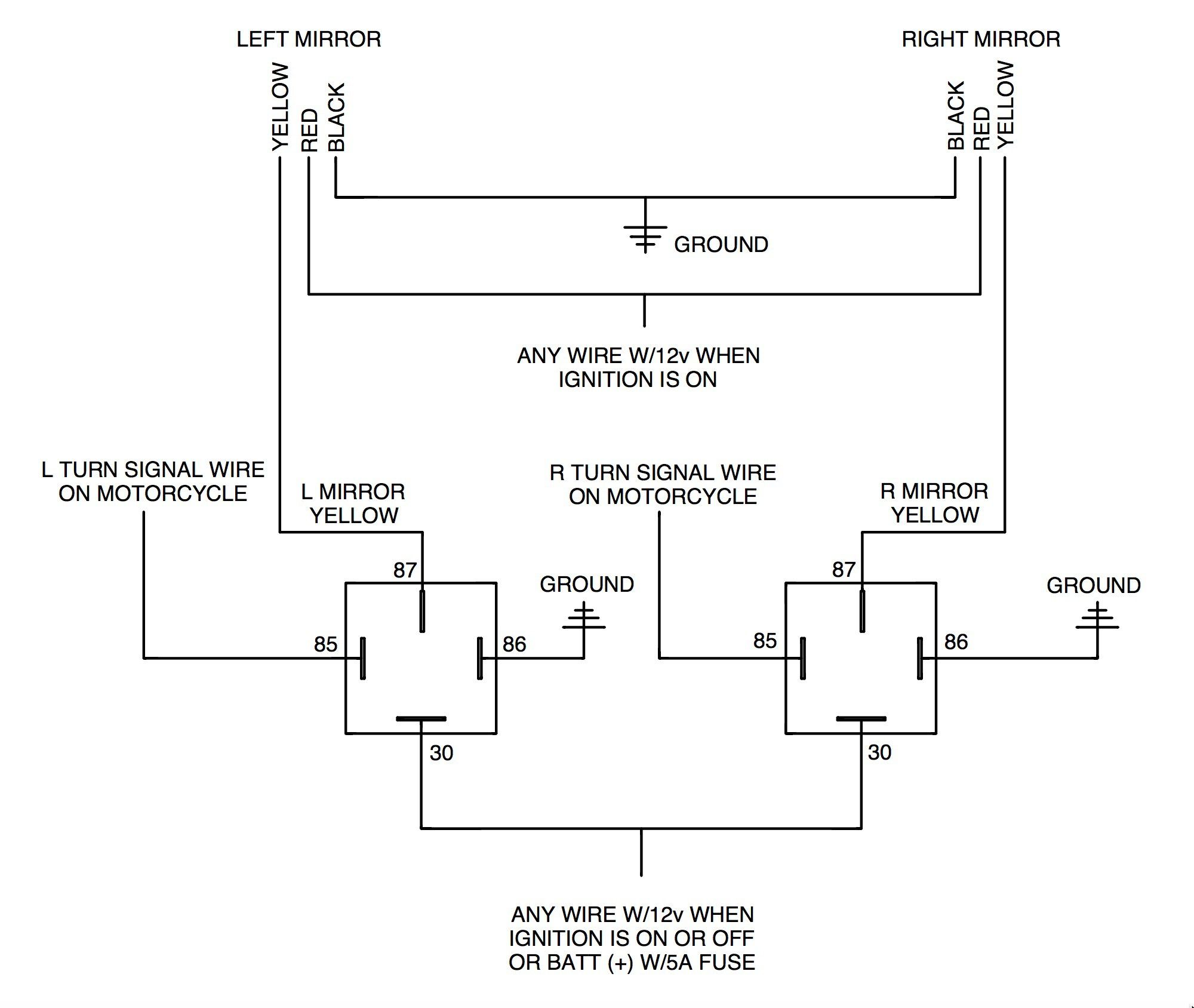 12v Relay Wiring Diagram 5 Pin Awesome Cute Standard Relay Wiring Hazard Lights Navigation Lights Diagram