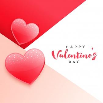 Download Stylish Valentine S Day Background With Two Hearts For Free Valentines Day Background Valentines Valentines Day