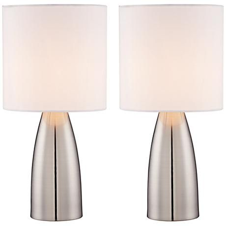 Set Of 2 Aron 14 1 2 High Accent On Off Touchtable Lamps 8y357 Lamps Plus Touch Lamp Lamp Sets Contemporary Table Lamps