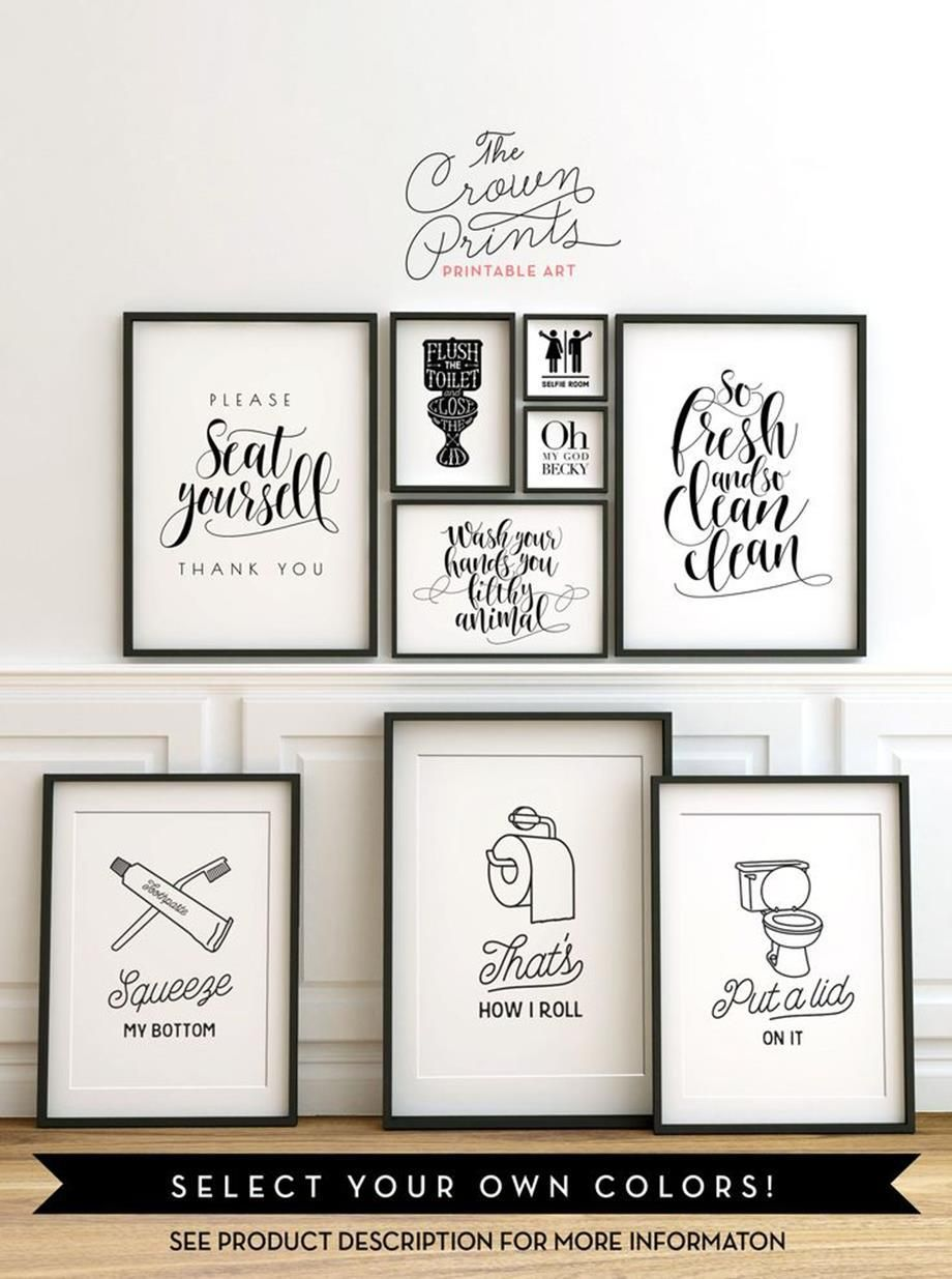 27 Simple and Easy Wall Art Ideas For Bathroom | Decorative wall ...
