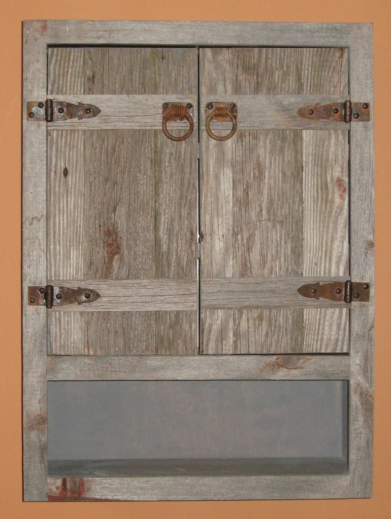 Weathered Wood Toilet Cabinet Rustic Toilet Cabinet Rustic Etsy In 2021 Rustic Toilets Barn Wood Cabinets Bathroom Wall Cabinets [ 1052 x 794 Pixel ]