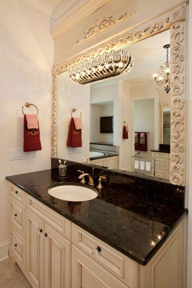 formal bathroom vanity completed by cincinnati stoneworks housetrends httpwww - Bathroom Cabinets Cincinnati