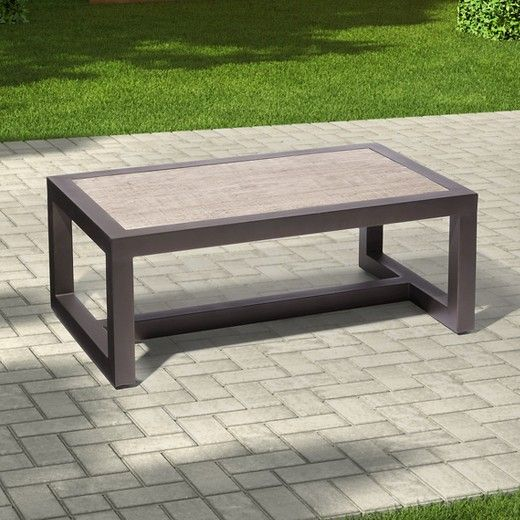 The Smith Hawken Premium Edgewood Metal Patio Coffee Table Offers Ultimate In Both Style