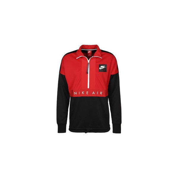 Nike Air HZ PK windbreaker red black ( 115) ❤ liked on Polyvore featuring  activewear d7eae43fb
