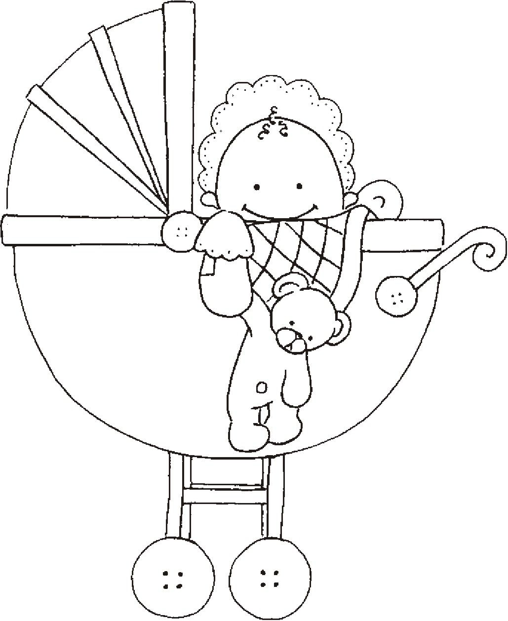 Baby In Buggy Embroidery And Stitching Embroidery Patterns