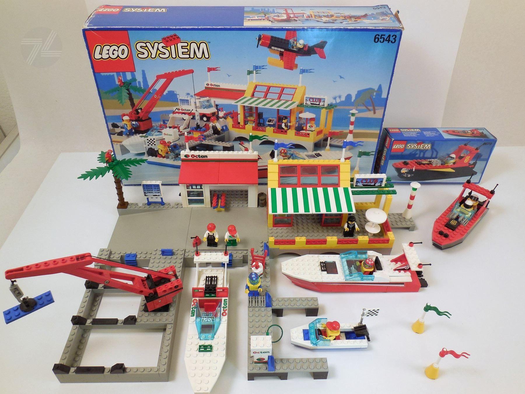Lego 6543 6679 Marina Rennboot Hafen Cyan74com Vintage