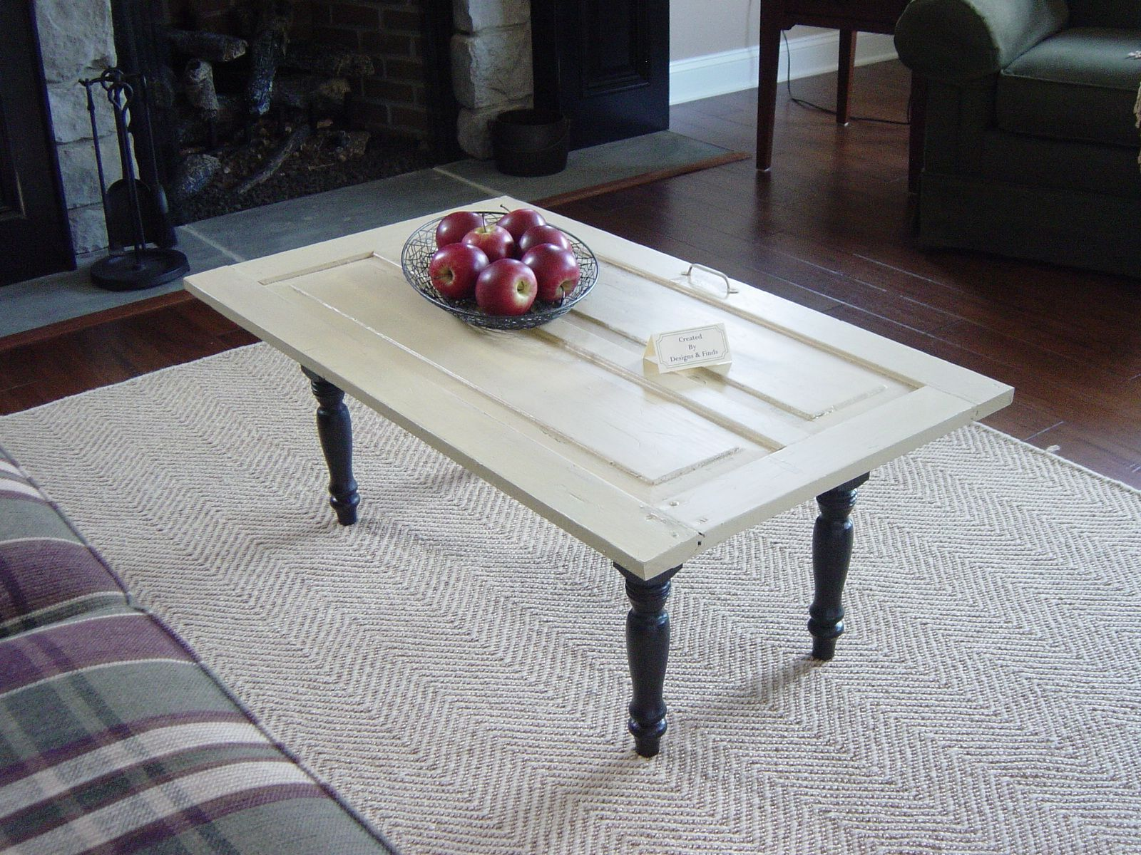D&F coffee table from an old half door made by Brenda