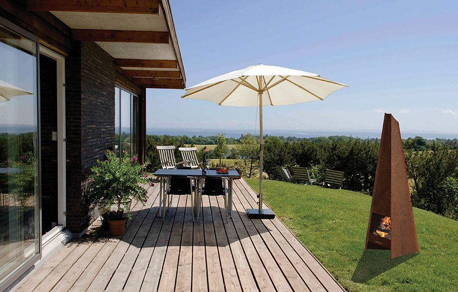 Terrasse schlicht aus Holz, Rasen bündig Draussen Pinterest - garten terrasse holz anlegen