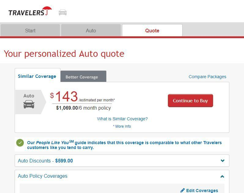 Travelers Insurance Quote Idea Travelers Car Insurance Review Car