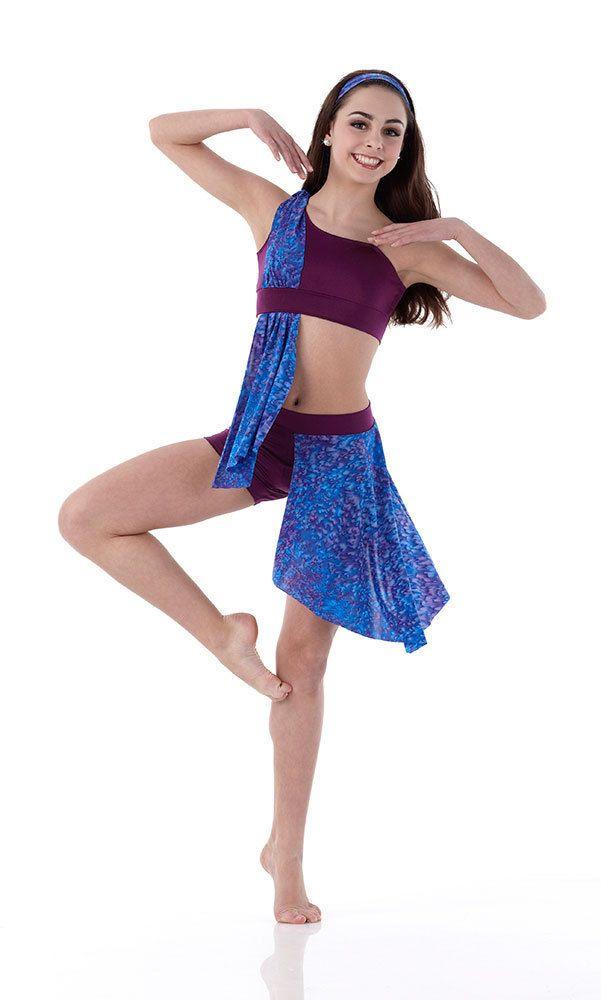 Lyric lyrical dance dresses : Contemporary Lyrical PURPLE RAIN Dance Dress Costume Ballet Child ...