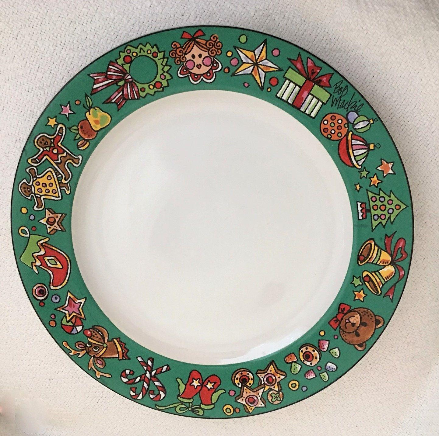 Bob Mackie Designer Santa S Party Christmas Plate Sakura New York Christmas Plates Cookies For Santa Plate Classic Christmas