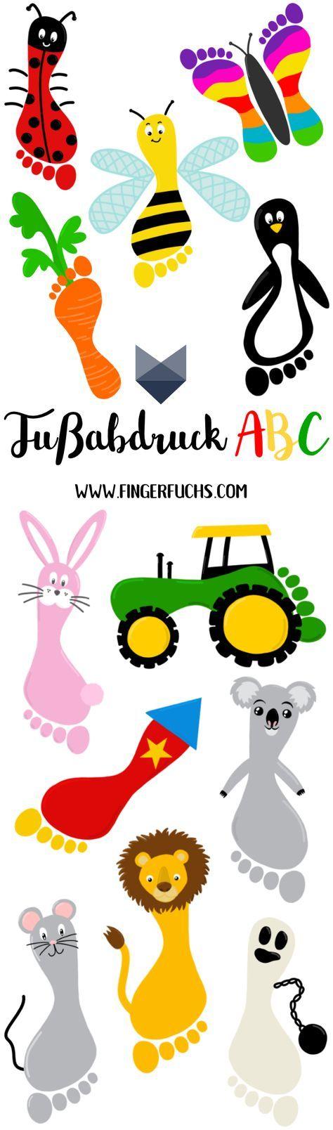 Das große Fußabdruck ABC - Basteln mit Fußabdruck #einfachebastelarbeitenfürkinder