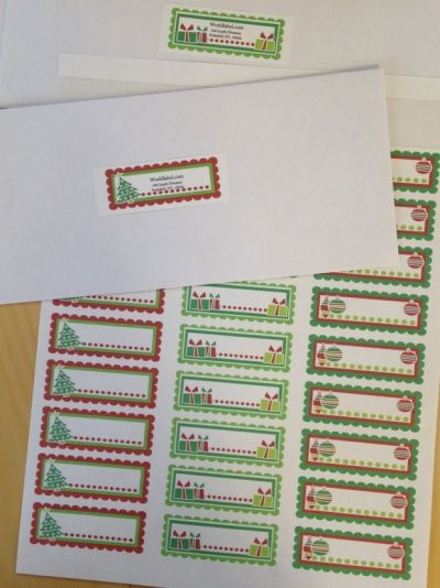 address-labels-for-christmas Christmas Crafts  decorating