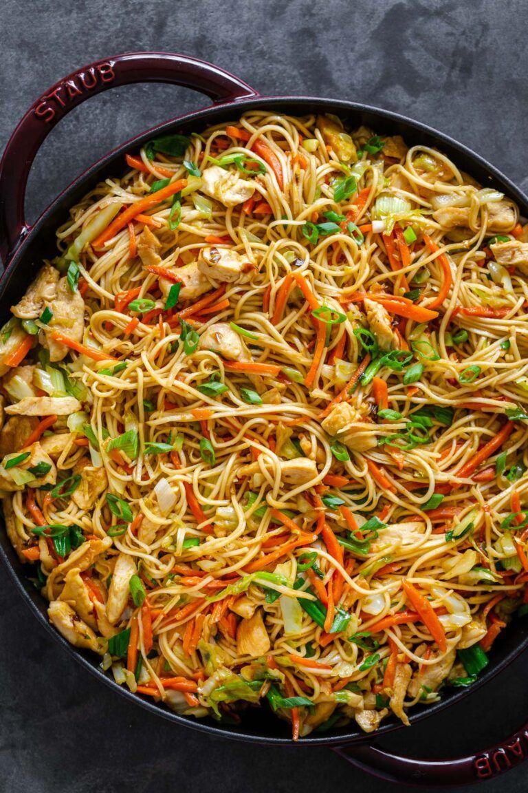Chicken Chow Mein with Best Chow Mein Sauce! - Nat
