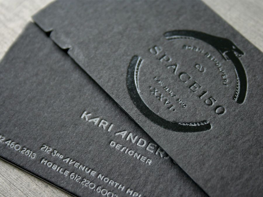 black on black business card | Add this | Pinterest