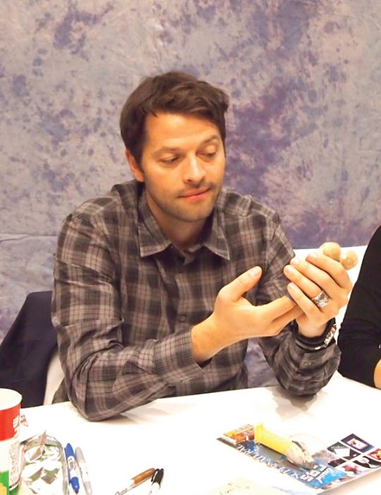 I presented these Hand puppets for Misha.  (Hollywood Collectors' Convention on December 29, 2014 in Osaka, Japan.)