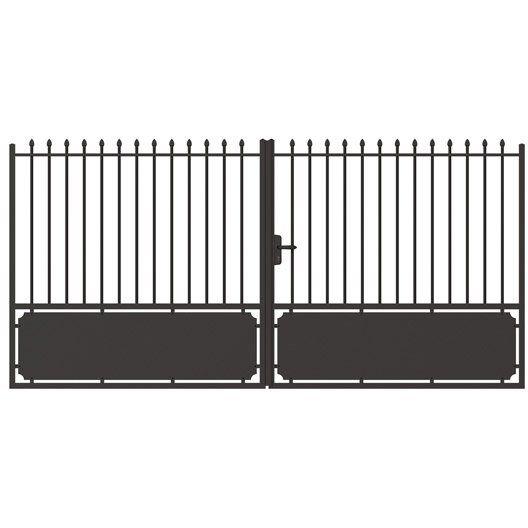 Portail battant en aluminium lancieux naterial x cm projets essayer portail for Portail aluminium battant 350