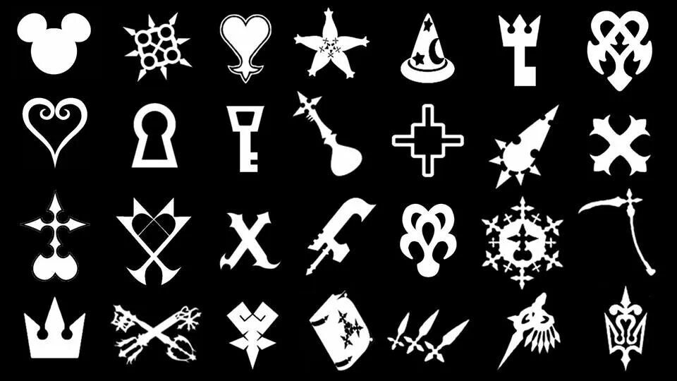 Kingdom hearts symbols | kingdom heart art | Pinterest | Corazones ...