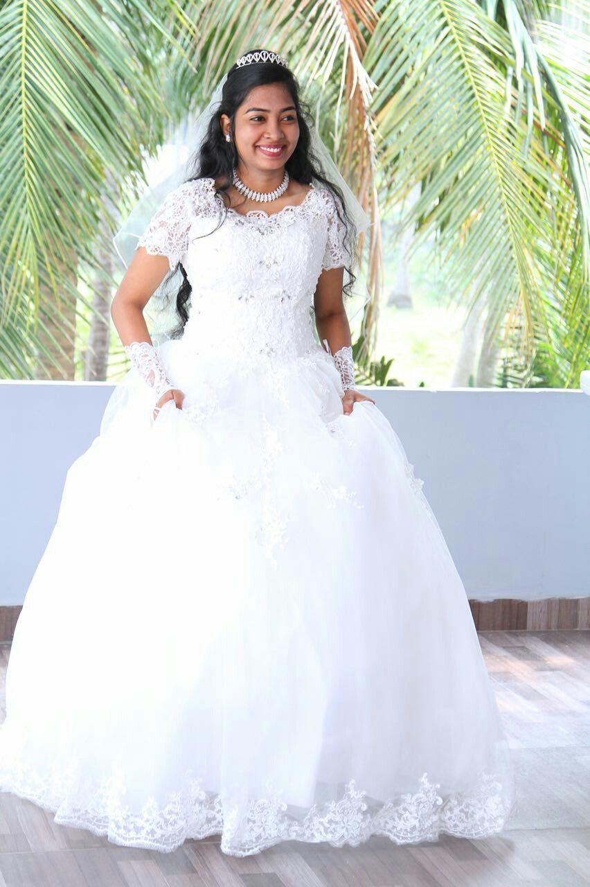 Elegant Bride In White Frock Christian Bridal Store White Frock Bridal Elegant Bride