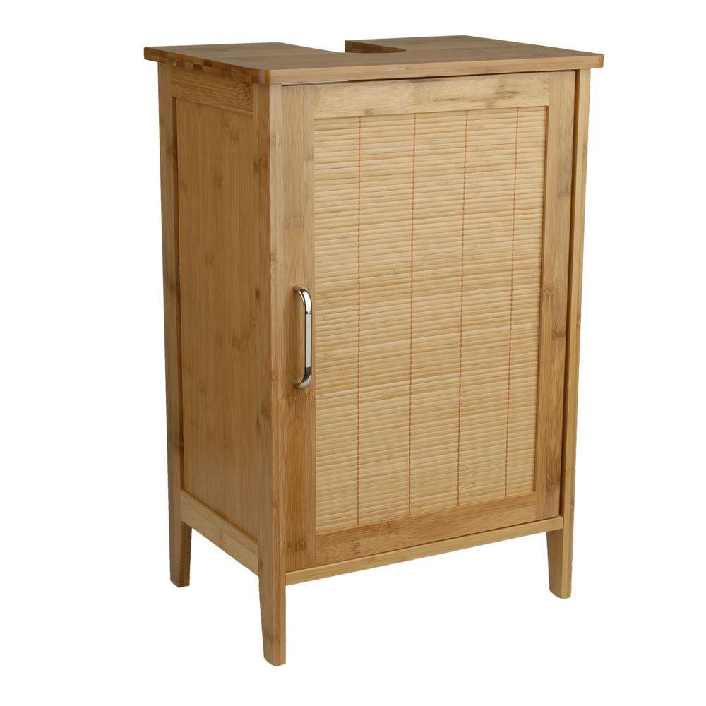 Bambus Waschtischunterschrank Badmöbel Bambusschrank Waschbecken ...