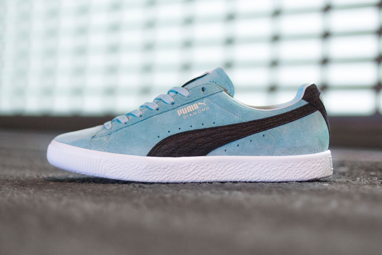 Clyde Chaussures Diamant Turquoise Puma UXbyKLY8