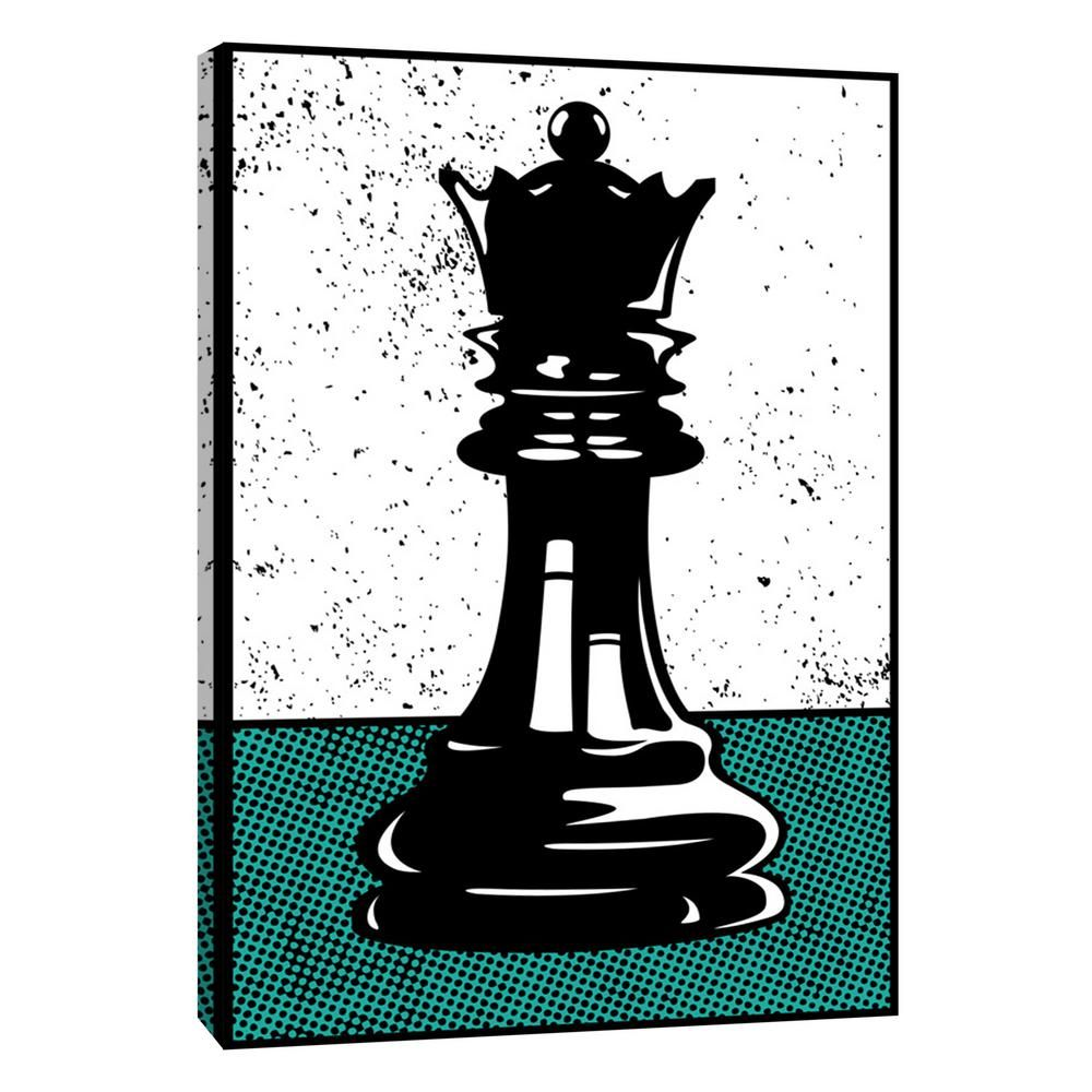 12 In X 10 In Chess Queen Printed Canvas Wall Art Multicolored Chess Queen Art Queen Art