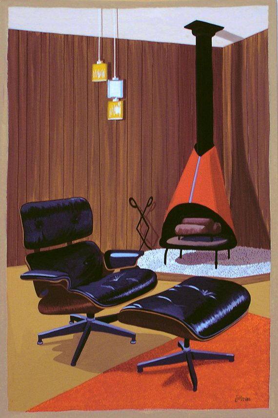 Mid Century Modern Eames Retro Limited Edition by ...
