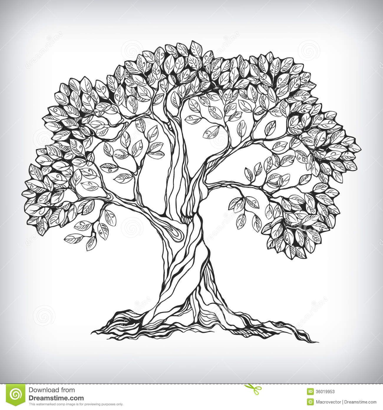 Hand drawn tree symbol download from over 28 million for Draw logo free
