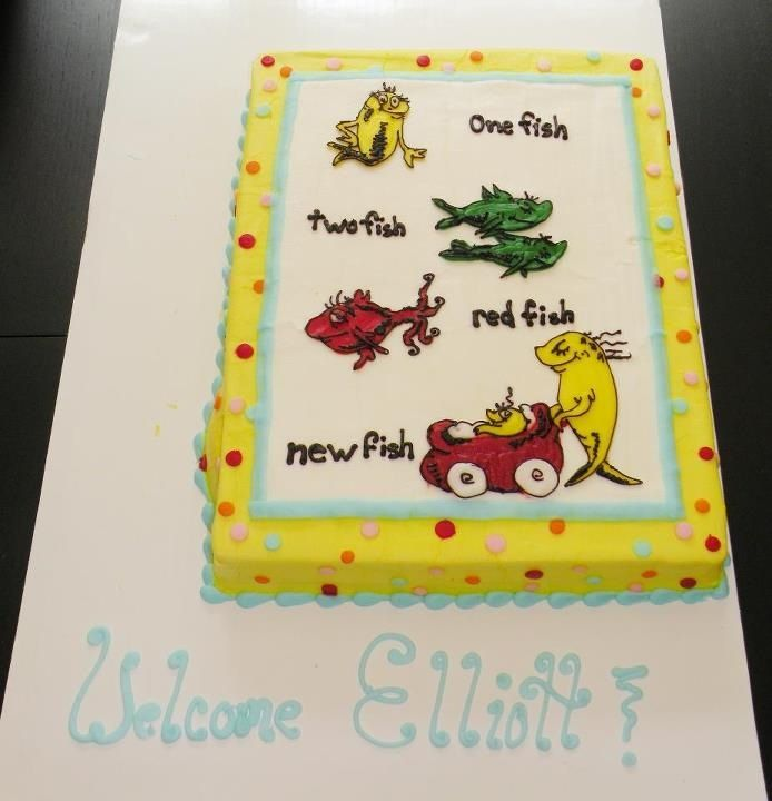 My Beautiful Dr. Seuss Baby Shower Cake!