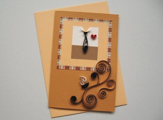 Happy Birthday Card Handmade Quilling Card Quilled Flowers – Birthday Cards for Dad