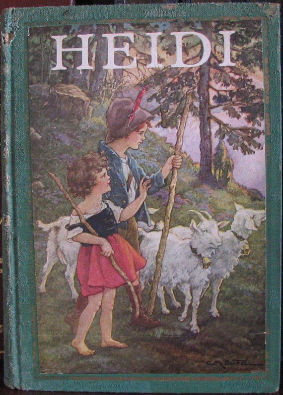 Heidi By Johanna Spyri 1925 Color Illustration Etsy Children S Book A New Home Paraphrased From