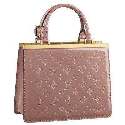 Louis Vuitton M91596 Monogram Vernis Déesse PM in Rose Velours