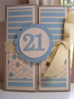 StampingPassion 21st Birthday Card