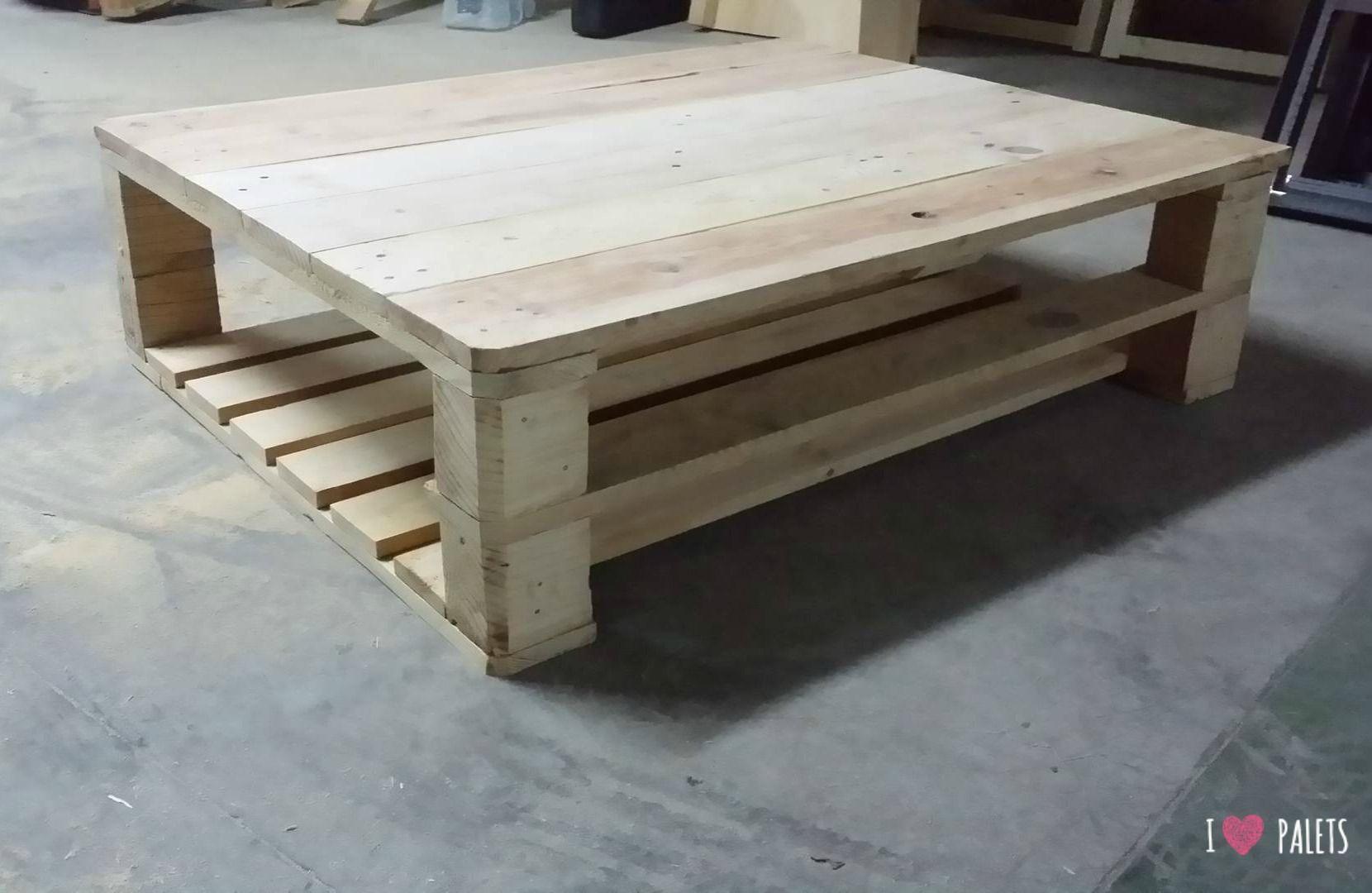 Una mesa auxiliar de palets para la terraza i love palets - Muebles de terraza con palets ...
