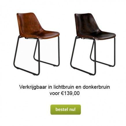 Leren Stoel Kopen.Bruine Leren Eetkamerstoel Home Chair Furniture En Home