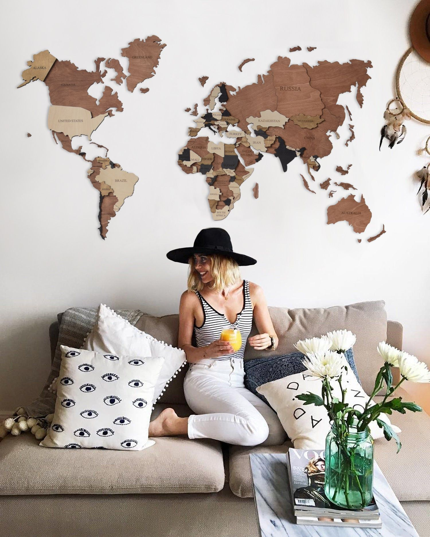 Travel Push Pin Map Wall Wooden Map Of The World Map Rustic Etsy In 2020 Living Room Decor Rustic Travel Wall Decor Wall Decor Living Room #neutral #wall #art #for #living #room
