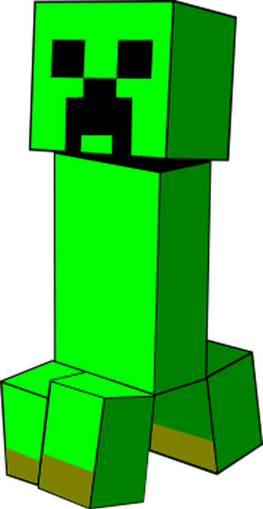 A Creeper From Minecraft Boom This Svg Will Blow Up Your Craft Projects Creeper Minecraft Minecraft Clipart Clip Art