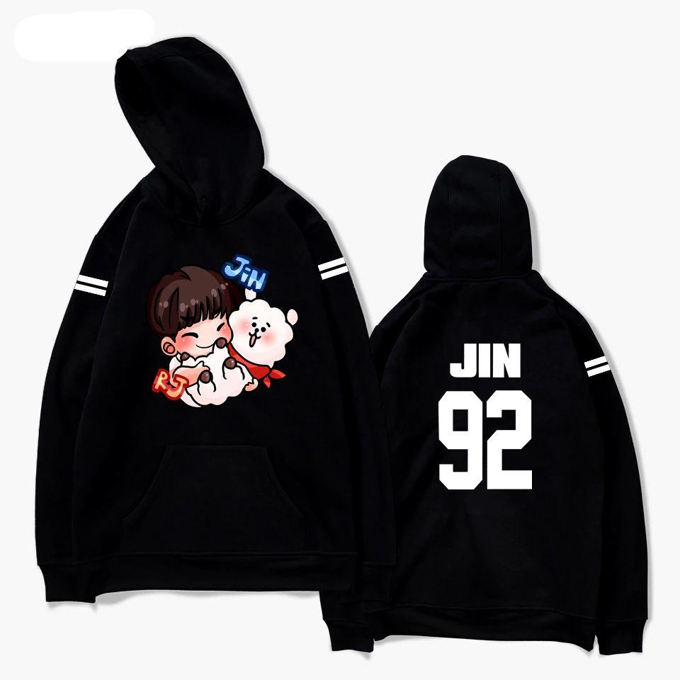 Hoodies Women Men Sweatshirts Pullover Sweatshirt Shirt JIMIN Plus Size