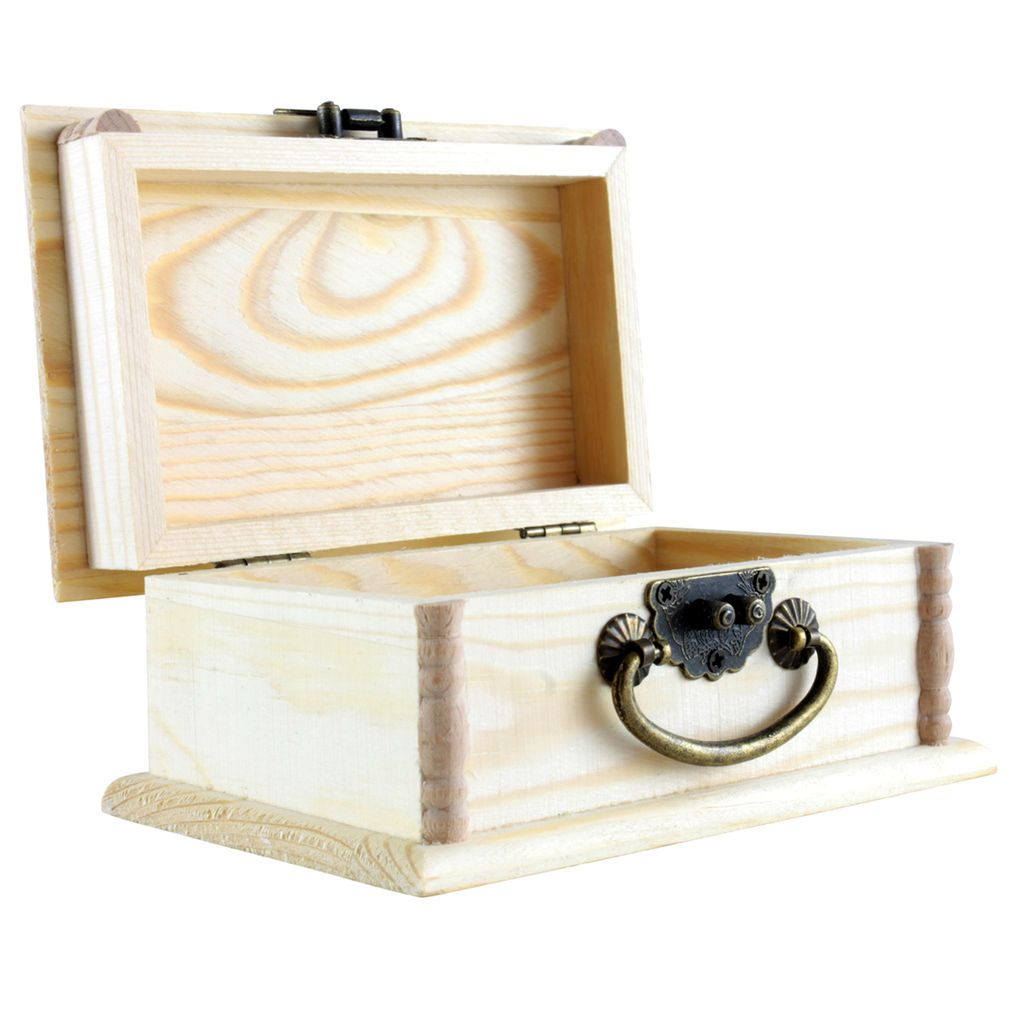 Wood Box With Handle By Artminds Wood Boxes Wood