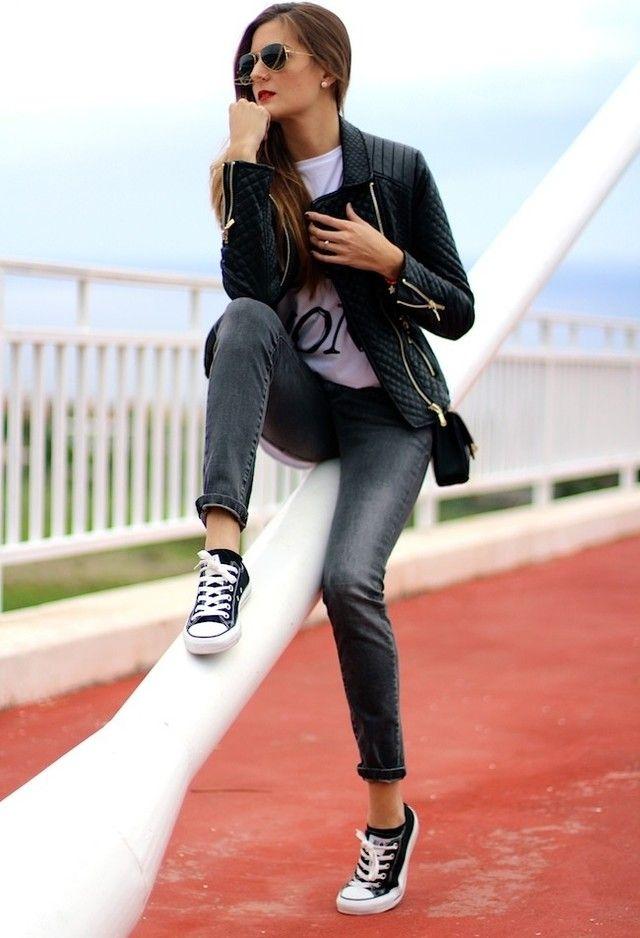 pics for gt black converse fashion