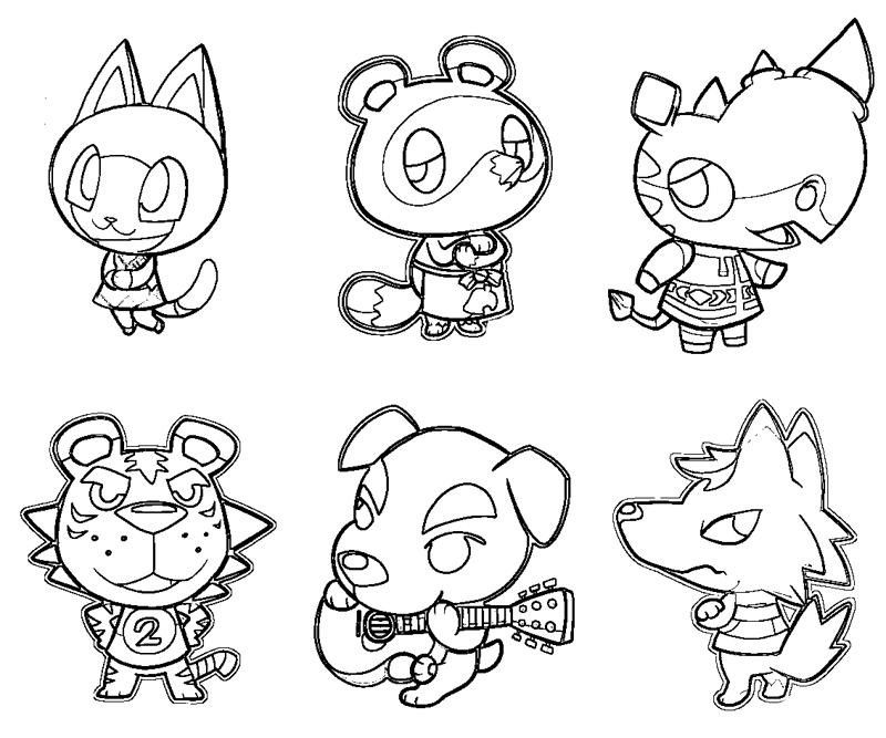 Animal Crossing Colouring Page Coloring Pages Animal Crossing Animal Coloring Pages