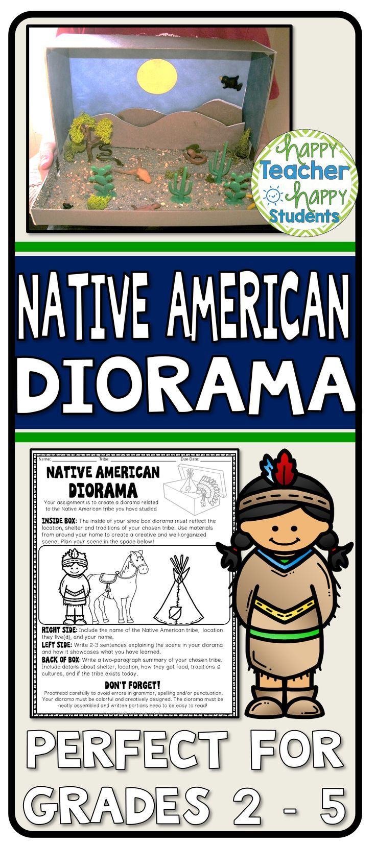 Native American Project Decorate A Shoebox Diorama Perfect For