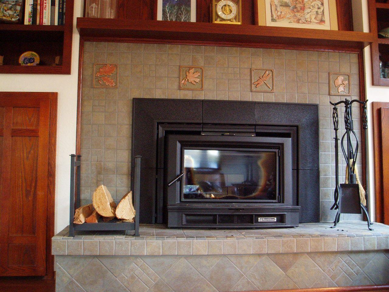 pretty custom tile fireplace fireplace ideas pinterest tiled