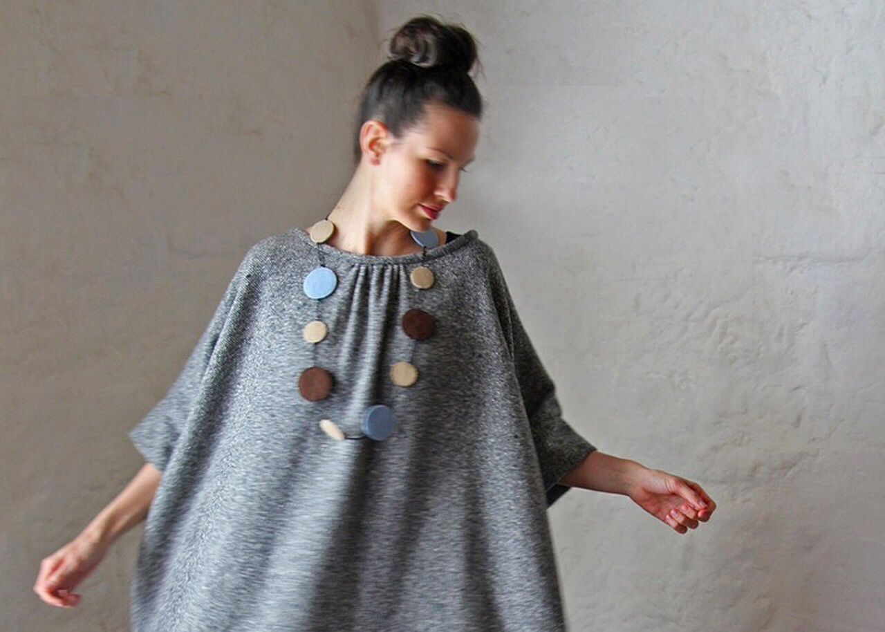Wool quadro tunic from the maker hobart lj struthers jewelry